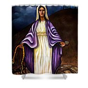 Virgin Mary- The Protector Shower Curtain