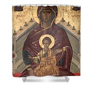 Virgin Mary With Baby Jesus  Shower Curtain