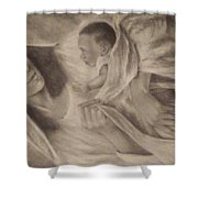 Virgin Maryan Jesus Shower Curtain