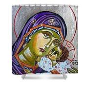 Virgin Of Tenderness Eleusa Shower Curtain
