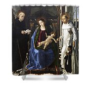 Virgin Of The Knight Of Montesa  Shower Curtain