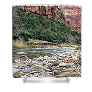 Virgin River In Zion Canyon Shower Curtain