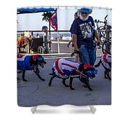 Virginia Beach Dogs  Shower Curtain