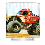 Virginia Beach Monster Truck Rally Shower Curtain