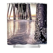 Virginia Beach Pier 2 Shower Curtain
