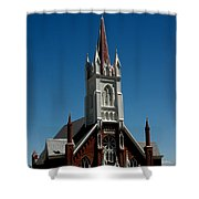 Virginia City Church St Mary Shower Curtain