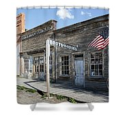 Virginia City Ghost Town - Montana Shower Curtain by Daniel Hagerman
