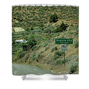 Virginia City Named After Henry Comstock Shower Curtain