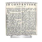 Virginia Constitution, 1776 Shower Curtain