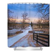 Virginia Country Lane Shower Curtain