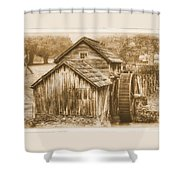 Virginia Country Roads - Mabry Mill No. 23 Sepia - Blue Ridge Parkway, Floyd County Shower Curtain