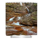 Virginia Fall Glacier Cascades Shower Curtain