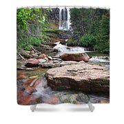 Virginia Falls - Glacier N.p. Shower Curtain