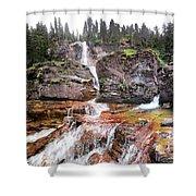 Virginia Falls - Glacier National Park Shower Curtain