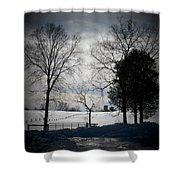 Virginia Snow Shower Curtain by Joyce Kimble Smith