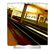 Virginia Square Metro I Shower Curtain