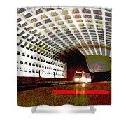Virginia Square Metro II Shower Curtain