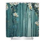 Viridian Bloom Shower Curtain