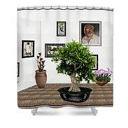 Virtual Exhibition -  Bonsai 13 Shower Curtain