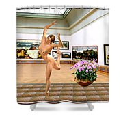 Virtual Exhibition - Dacanvasncing Girl Shower Curtain
