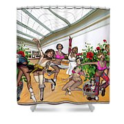 Virtual Exhibition - Dance Of Opening The Exhibition Shower Curtain