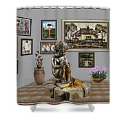 Virtual Exhibition - Source 34 Shower Curtain