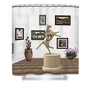 Virtual Exhibition_statue Of A Horse Shower Curtain