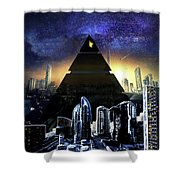 Virtual Law City Shower Curtain