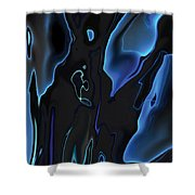 Virtual Life 1 Shower Curtain