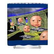 Virtual Stonehedge Shower Curtain