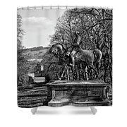 Viscount Gough On Horseback. Shower Curtain
