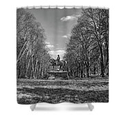 Viscount On Horseback. Shower Curtain