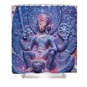 Vishnu Astride Garuda Shower Curtain