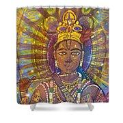 Vishnu Krishna Face Shower Curtain
