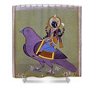 Vishnu On A Bird Shower Curtain