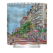 Vishoshka Street Shower Curtain
