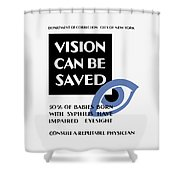 Vision Can Be Saved - Wpa Shower Curtain
