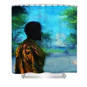 Visionary Roundabout Scene Shower Curtain