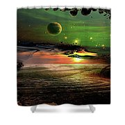 Visions In My Head Shower Curtain