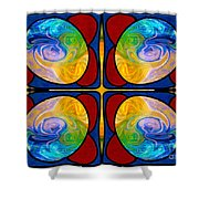 Visions Of Bliss And Abstract Artwork By Omaste Witkowski Shower Curtain
