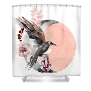 Visions Of Crystal Eyed Ravens Shower Curtain