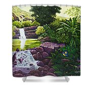 Visions Of Paradise X Shower Curtain