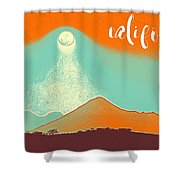 Visit California Travel Poster Shower Curtain