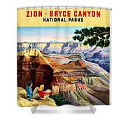 Visit Grand Canyon - Restored Shower Curtain