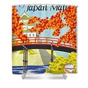 Visit Japan Shower Curtain