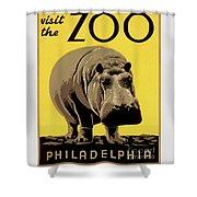 Visit The Zoo Philadelphia Shower Curtain