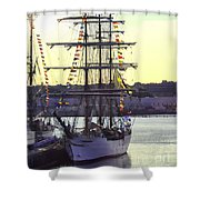Visiting New London Shower Curtain