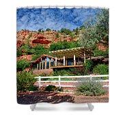 Visitor Center Best Friends Animal Sanctuary Angel Canyon Knob Utah 02 Shower Curtain