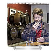 Visitor Samples Single Malt Whisky Shower Curtain