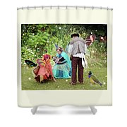 Visitors At A Fairy Blessing Shower Curtain